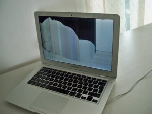 MacBook Air screen damaged repair
