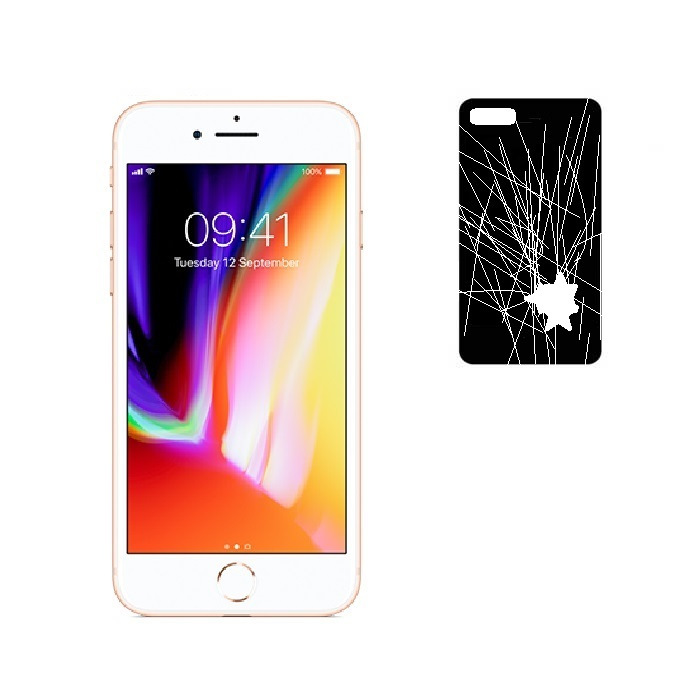 iphone 8 plus back glass panel repair